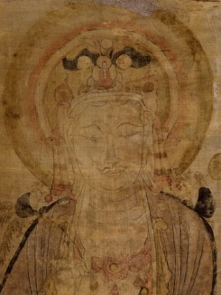 Avalokiteśvara in a Dunhuang painting (1919,0101,0.25)