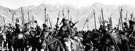 Tibetan mounted warriors